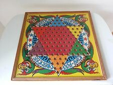Vintage 1938 King Fuu Melican Checker Board double sided by Straits Mfg