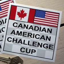 "CAN AM Canadian American Challenge Cup STICKER 4"" Lola Shadow McLaren Chaparral"