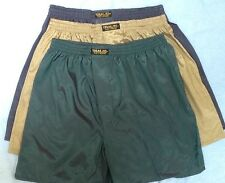 3 THAI SILK BOXER SHORTS SLEEPWEAR PANTS BOXERS L UNDERWEAR GOLD GREEN LARGE