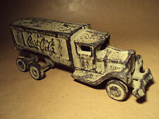 COCA COLA - COKE - OLD VINTAGE CAST IRON DELIVERY TRUCK TOY - RARE - FREE UK P&P