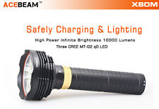 ACEBEAM X60M 3x CREE MT-G2 LED Magnetic Control Rechargeable Flashlight 10000 lm