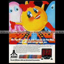MISS MS PAC-MAN ATARI VCS 2600 Vintage Video Game 1982 : Pub Advert Ad #A1329