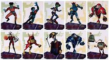 REBOOT TV Show 10-CARD SUSPENDED ANIMATION CHASE SET Printed on Clear Plastic