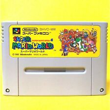 S7 SUPER MARIO WORLD JAPAN SNES SFC Nintendo Super Famicom Japanese Free Ship