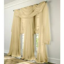 "Luxury 2 pc.Sheer Voile Panel,window curtain- Black,White,Beige and more 54""x84"""