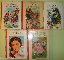 LOT de 5 BIBLIOTHEQUE ROUGE ET OR ¤ CHARLES DICKENS/GEORGE SAND/SAINT-MARCOUX