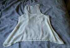 new look size 6 8 racer back vest chiffon top oversized
