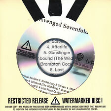 AVENGED SEVENFOLD Self Titled UK numbered/watermarked promo test CD