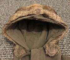 "Rare CP Company Rabbit Fur Explorer Jacket 50 L XL 23.5""ptp Olive"