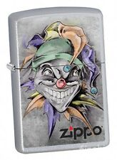JOKER Satin Silver ZIPPO neu+ovp Collection 2017