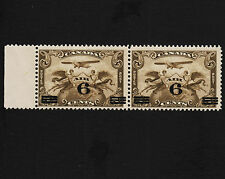 1932 Canada Air Mail Pair With Margin Sc#C3 Mint Light Hinge