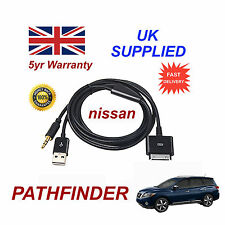 Per NISSAN PATHFINDER IPHONE 3GS 4 4S E IPOD USB & AUX Cavo Audio