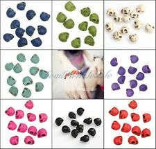20pcs Loose Man-made Turquoise Skull Spacer Beads For Mixed Color 10mm