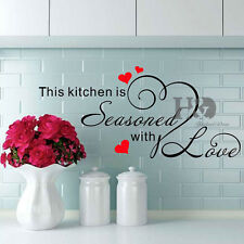 Love Heart Quote Words Phrase Wall Sticker Vinyl Decal Mural Kitchen Room Decor
