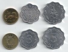 MALTA 3 COIN UNCIRCULATED TYPE SET WEASEL BEE