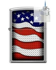 Zippo 0598 USA Flag Waving Lighter & Z-PLUS INSERT BUNDLE