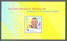 Australia-Gold Medal olympic Games 2012 special limited edition min sheet-mnh