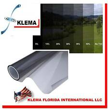 "KLEMA Window Film Black SRC 1 PLY 5%  60"" X 200 Ft Tint Sticker Car House Home"