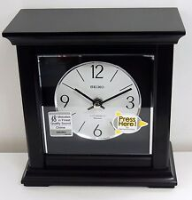 SEIKO MANTLE CLOCK IN DARK WOOD WITH 18 HI-FI MELODIES QXW245BLH