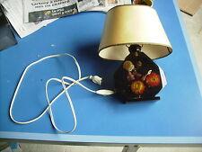 lampe vintage resine inclusions fleurs sechées 70's