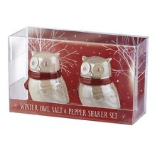 Grasslands Road - Christmas - Northern Lights Owl Salt & Pepper Shaker  - 464149