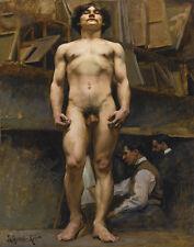 Leyendecker Academic Nude In The Julian Academie Print 11 x 14 #3139