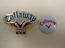 Golf Ball Marker Hat Clip CALLAWAY White/Red/Blue ~Japan