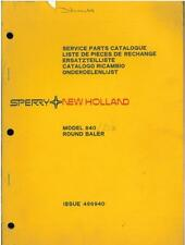 NEW HOLLAND 840 ROUND BALER PARTS MANUAL - GTC2B **ORIGINAL**