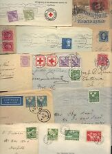 SWEDEN 1900-40's 12 COVERS, 1 NORWAY, 1 CENSORED & 3 WITH ENCLOSED LETTERS