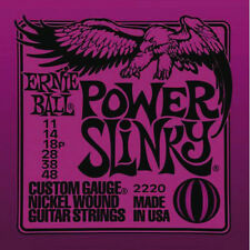 Ernie Ball 2220 Nickel Power Slinky Electric Guitar Strings Gauge 11-48