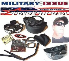 Wiley X SG-1 Z87-2 Tactical Goggles Smoke Grey & Clear Matte Black Sunglasses