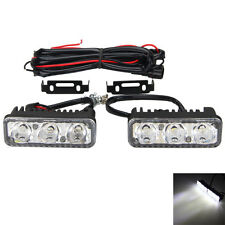2pcs 3 LED High Power Universal Car DRL Daytime Running Light Fog Daylight Lamp