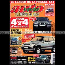 AUTO VERTE N°250 MITSUBISHI L 200 MERCEDES ML 320 V6 500 V8 RALLYE DAKAR 2002