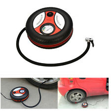 12V Portable Mini Car Compact Air Compressor Tyre Shaped Electric Inflator Pump