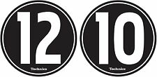 Technics 60604 PAIR Slipmat 12-10 Design BLACK/WHITE Original / Brand New
