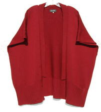 Eskandar BEET ROOT Medium Weight Merino Wool Tabard Cardigan Sweater O/S $1095