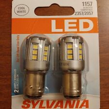 Sylvania Super Bright Cool White LED 1157 6000K also fit 2357 2057 BRAND NEW