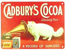 Cadbury's Cocoa Metal sign with Cat and Gramaphone