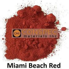 MIAMI BEACH RED Concrete Color Pigment Dye Cement Mortar Grout Plaster 3 LBS
