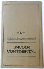 1970 LINCOLN CONTINENTAL OWNERS MANUAL ORIGINAL