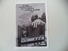 advertising Pubblicità 1968 CGE CLOCK RADIO