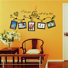 Moda Pegatina De Pared Vinilo Decorativo Photo Lovebirds Hogar Arte Decoración