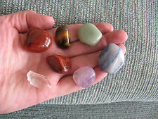 NEW CHAKRA CRYSTAL HEALING STONE SET OF 7 NATURAL GEMSTONES W/ MINI QUARTZ POINT