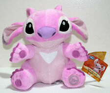 "Disney Store Exclusive Lilo & Stitch ANGEL 10"" Plush Toy Doll Pink Alien Dog NEW"