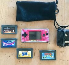 Pink Gameboy Advance Micro + 4 Games. Bundled Items