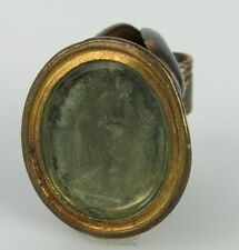 Early 19th Century Seal Fob of Classical Female Intaglio Seal Fob Glass Tassie