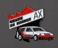 pin's voiture / Coupe de France AX (Citoen Sport - Michelin - total) zamac
