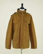 NWT $368 WALLACE & BARNES WAXED COTTON M-65 JACKET L BROWN COAT BY J.CREW E1288