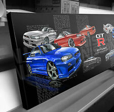 NISSAN SKYLINE GTR  STRETCHED CANVAS PRINT READY TO HANG