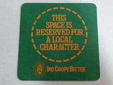 Beer COASTER ~ IND COOPE Brewery~ Essex, ENGLAND    Space Reserved For Character